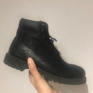 Timberland Black Junior 6-In Waterproof Boots 6.5